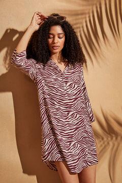 Womensecret Сорочка с принтом «зебра» бежевый