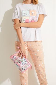 Womensecret Косметичка-футляр среднего размера розового цвета «Снупи» цветной