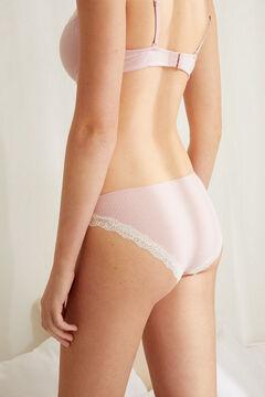 Womensecret Классические розовые трусики с кружевными вставками розовый