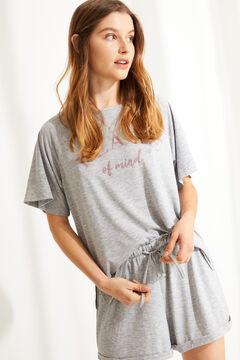 Womensecret Короткая пижама с короткими рукавами из невероятно мягкого трикотажа серого цвета серый