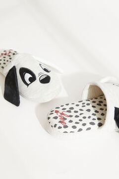 Womensecret Домашние тапочки без задника с объемной деталью «101 далматинец» серый