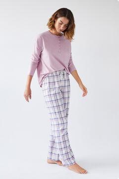 Womensecret Длинные фланелевые брюки в клетку цветной
