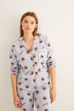 Womensecret Синяя пижама в рубашечном стиле «Элмо» бежевый