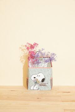 Womensecret Ящик для хранения с цветочным принтом «Снупи» зеленый