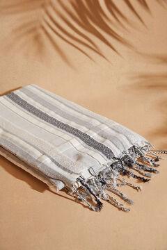 Womensecret Пляжное полотенце в цветную полоску черный
