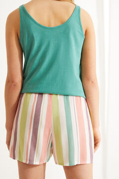 Womensecret Шорты с полосатым принтом цветной