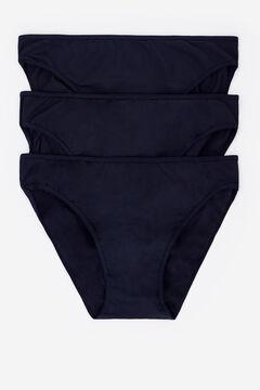 Womensecret 3 microfiber classic panties pack черный