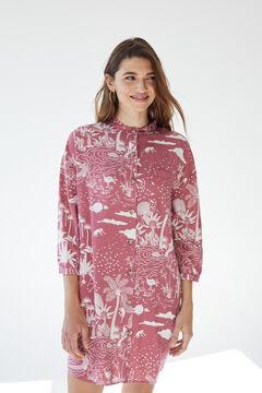 Womensecret Короткая сорочка на пуговицах розовый