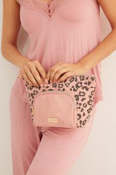 Womensecret Розовая косметичка футляр с анималистичным принтом розовый