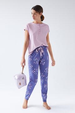Womensecret Синие длинные брюки из хлопка  голубой