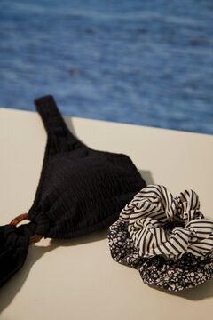 Womensecret Набор из 2 резинок для волос с принтом черный