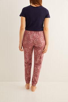 Womensecret Длинные пижамные брюки с принтом «огурцы» розовый
