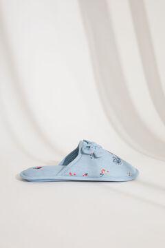 Womensecret Домашние тапочки без задника с эффектом денима голубой