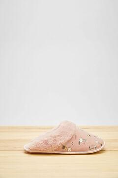 Womensecret Розовые домашние тапочки без задника «Снупи» розовый