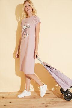 Womensecret Розовая ночная рубашка из хлопка «Снупи» розовый