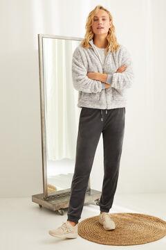 Womensecret Серые брюки из эластичного бархата Super Comfort серый