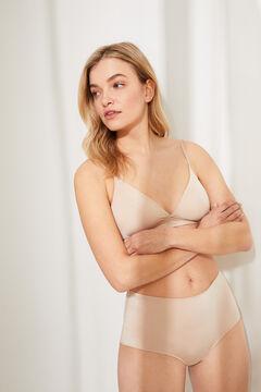 Womensecret Wireless triangular bra бежевый