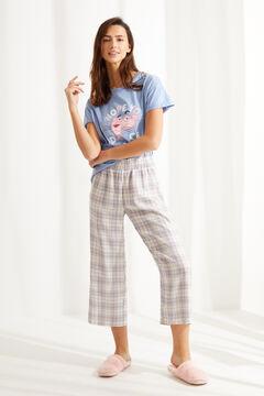 Womensecret Короткая пижама из хлопка «Розовая пантера» голубой