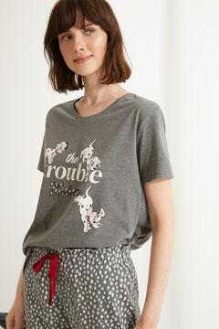 Womensecret Длинная хлопковая пижама серого цвета «101 далматинец» серый