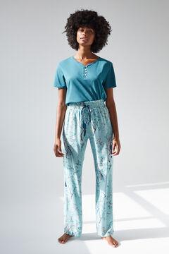 Womensecret Длинные зеленые брюки, созданные совместно с Coordonné голубой