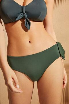 Womensecret Высокие зеленые трусики-бикини боксеры с бантом зеленый