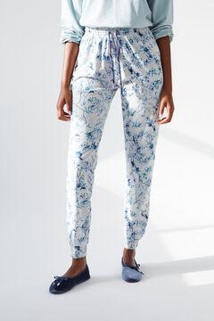 Womensecret Длинные серые брюки из хлопка, созданные совместно с Coordonné серый