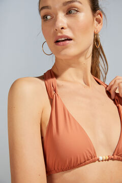 Womensecret Оранжевый бикини-топ типа халтер красный