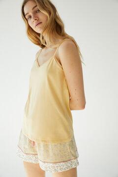 Womensecret Короткая пижама с верхом на бретелях из органического хлопка цветной