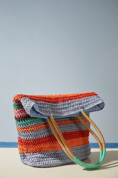 Womensecret Сумка в разноцветную полоску с длинной ручкой цветной