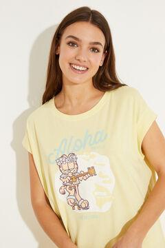 Womensecret Желтая ночная рубашка миди из 100 % хлопка. зеленый
