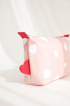 Womensecret Маленькая розовая косметичка с сердечками розовый