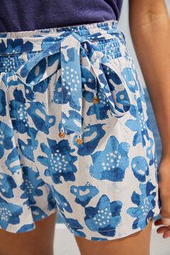 Womensecret Шорты с тропическим принтом синего цвета голубой