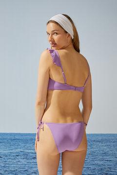 Womensecret Бикини-топ бандо асимметричного кроя фиолетового цвета синий