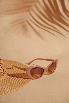 Womensecret Солнцезащитные очки «кошачий глаз» и футляр с анималистичным принтом цвета экрю черный
