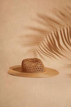 Womensecret Натуральная пляжная шляпа с широкими полями бежевый