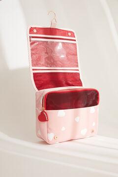 Womensecret Большая косметичка с сердечками розового цвета розовый