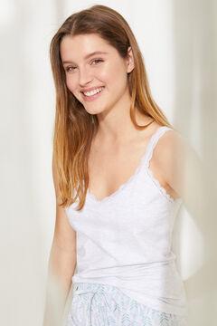 Womensecret Короткая пижама из экологичного хлопка серого цвета серый