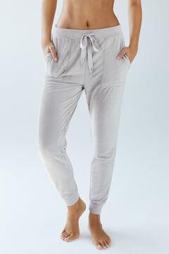 Womensecret Бархатные брюки песочного цвета бежевый