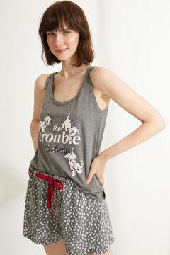 Womensecret пижама  цвета на бретелях «101 далматинец» серый