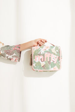 Womensecret Подвесная косметичка с тропическим принтом «Миффи» бежевый
