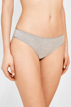 Womensecret 3 cotton classic panties pack серый