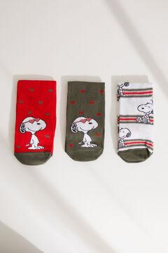 Womensecret Набор из 3 пар носков средней длины «Снупи» цветной