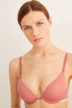 Womensecret Бюстгальтер с эффектом пуш-ап supersoft розовый