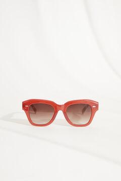 Womensecret Красные солнцезащитные очки с оправой из пластмассы и футляром с пальмами бежевый