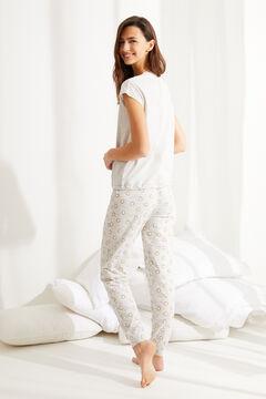 Womensecret Короткая пижама из хлопка «Гарфилд» серый