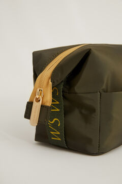 Womensecret Зеленая косметичка среднего размера типа корзинки зеленый