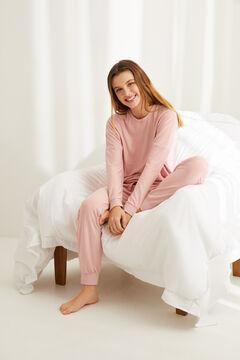 Womensecret Невероятно мягкая длинная пижама в полоску розового цвета цветной