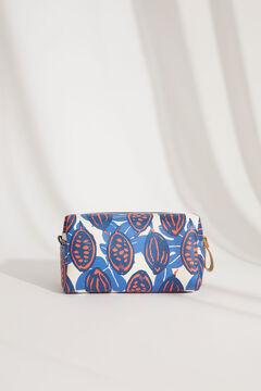 Womensecret Прямоугольная косметичка среднего размера с принтом голубой