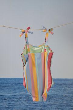 Womensecret Детский купальник с полосатым принтом цветной