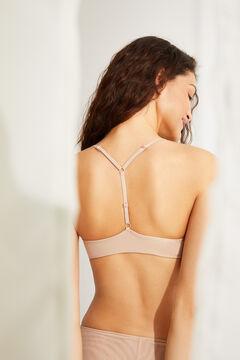 Womensecret T-back bra бежевый